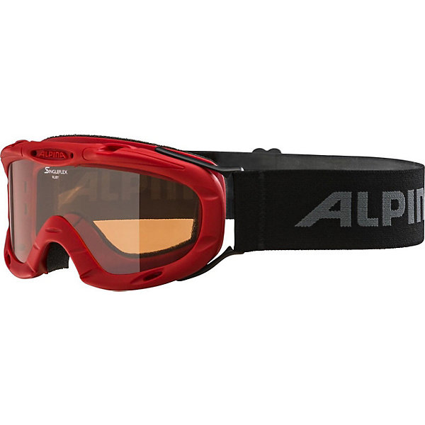 Alpina Горнолыжные очки Alpina Ruby S1 SH, красные alpina горнолыжные очки alpina carvy 2 0 sh lime slt s2 slt s2