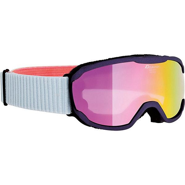 Alpina Горнолыжные очки Alpina Pheos JR. MM, фиолетовые велосипедные очки alpina pheso p цвет оправы серый
