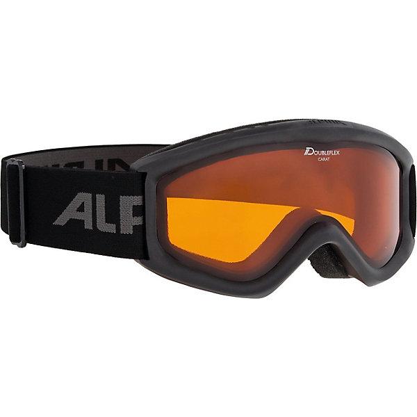 Alpina Горнолыжные очки Alpina Carat DH, чёрные alpina горнолыжные очки alpina carvy 2 0 sh lime slt s2 slt s2