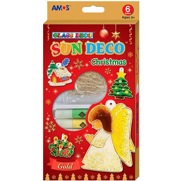 Amos Набор витражных красок Новогодний №1 с витражами