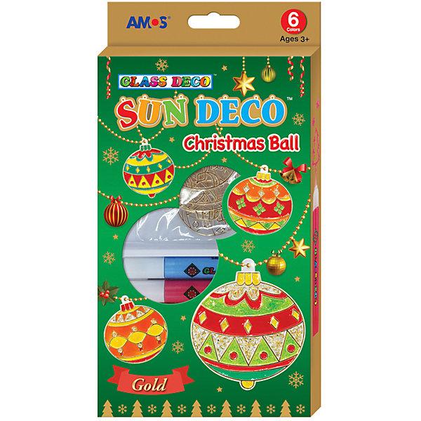 Amos Набор витражных красок Новогодний №3 с витражами