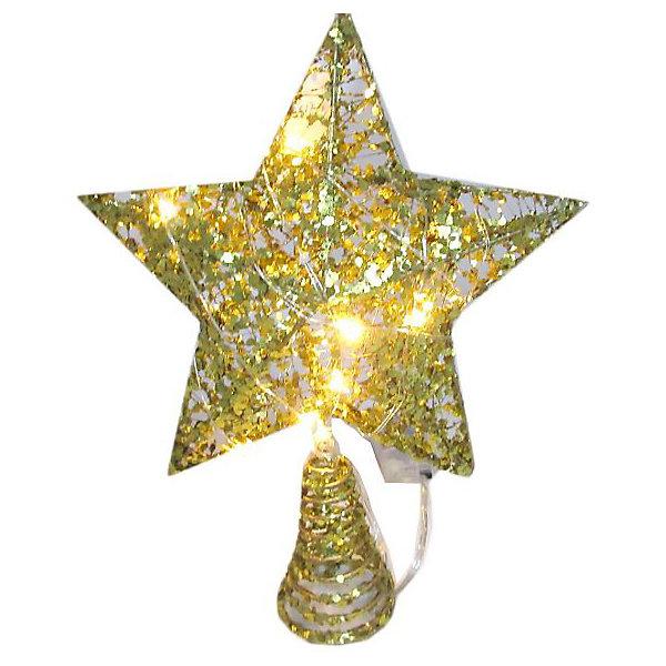 Купить Электрическая верхушка на ёлку Новогодняя сказка Звезда , 18х24 см, Китай, разноцветный, Унисекс