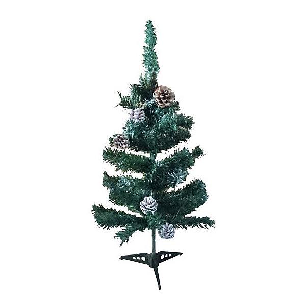 Новогодняя сказка Искуственная ёлка с шишками Новогодняя сказка 60 см, зелёная snowmen н г ёлка конус световод с инеем звезда бат 25см 4цв в пвх е50051