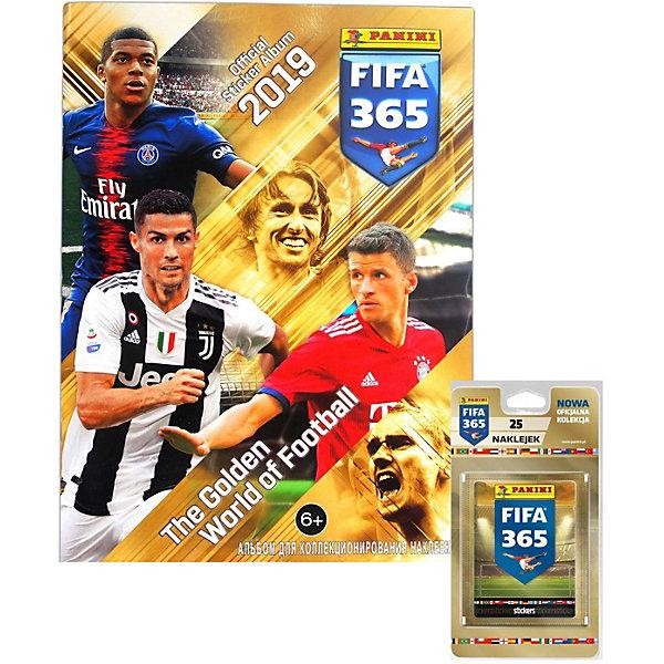 Купить Альбом Panini FIFA 365-2019™ и блистер, 5 пакетиков с наклейками, Италия, Мужской