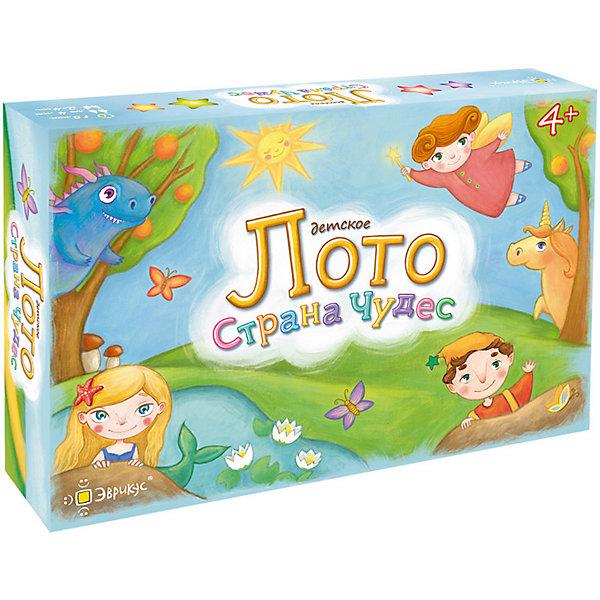 Эврикус Настольная игра Лото детское. Страна чудес