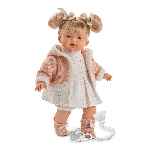 Купить Кукла Llorens Роберта, 33 см, озвученная, Испания, розовый, Женский