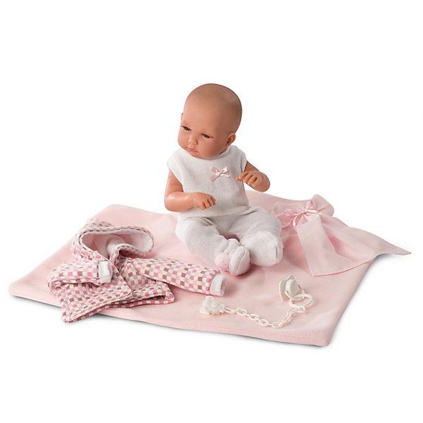 Llorens Кукла Llorens младенец в розовом, 35 см кукла llorens елена 35 см 53518