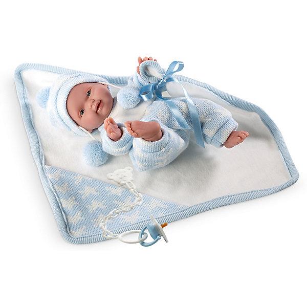 Купить Кукла Llorens Селесте с одеялом, 26 см, Испания, голубой, Женский