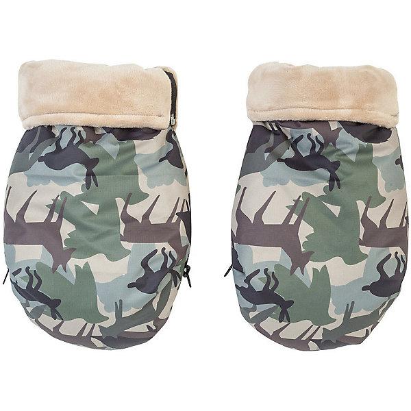 Купить Муфта-рукавички для маминых рук Mammie, камуфляж, Россия, зеленый, Унисекс