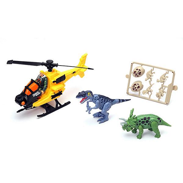Chap Mei Игровой набор Chapmei Охотник на вертолете за динозаврами chapmei игровой набор нано армия подводная лодка с наполнением