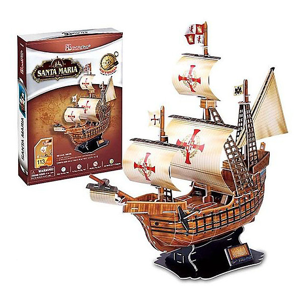CubicFun 3D пазл CubicFun Корабль Санта Мария cubicfun 3d пазл cubicfun корабль месть королевы анны