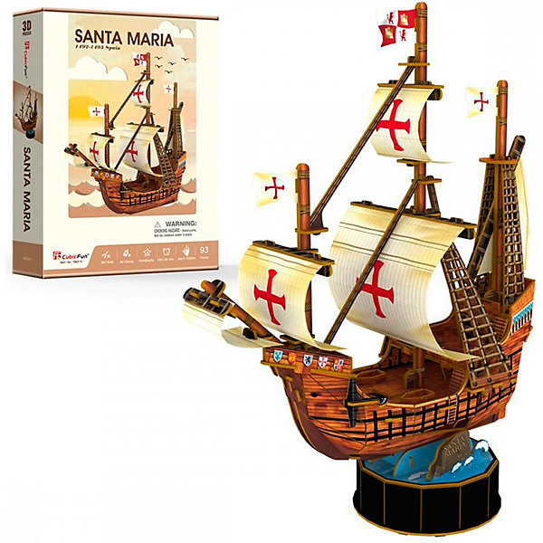 CubicFun 3D пазл CubicFun Корабль Санта Мария
