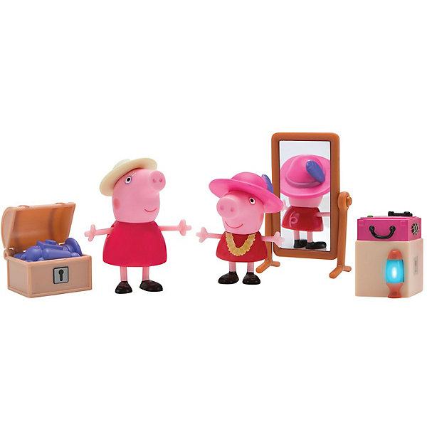Росмэн Игровой набор Росмэн Свинка Пеппа Пеппа и Бабушка в гардеробной росмэн мягкая игрушка пеппа с виноградом 20 см свинка пеппа