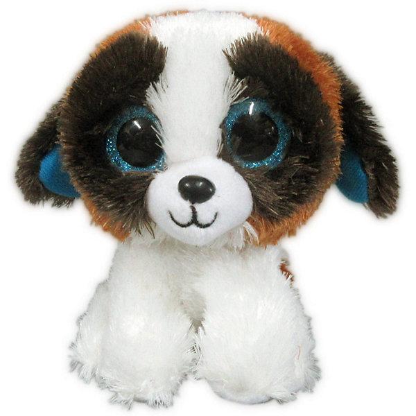 ABtoys Мягкая игрушка Собачка 15 см, бело-коричневая