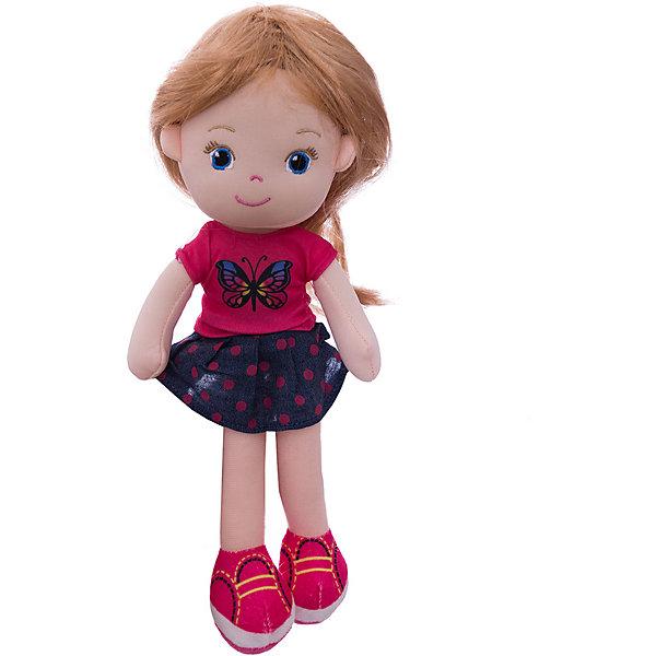 ABtoys Мягкая кукла блондинка в синей юбочке, 32 см