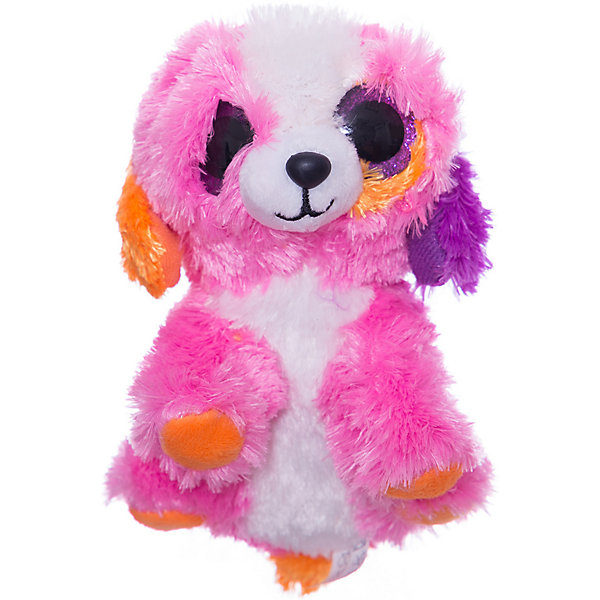 ABtoys Мягкая игрушка ABtoys Собачка 15 см, розовая стелька 15 см какой размер