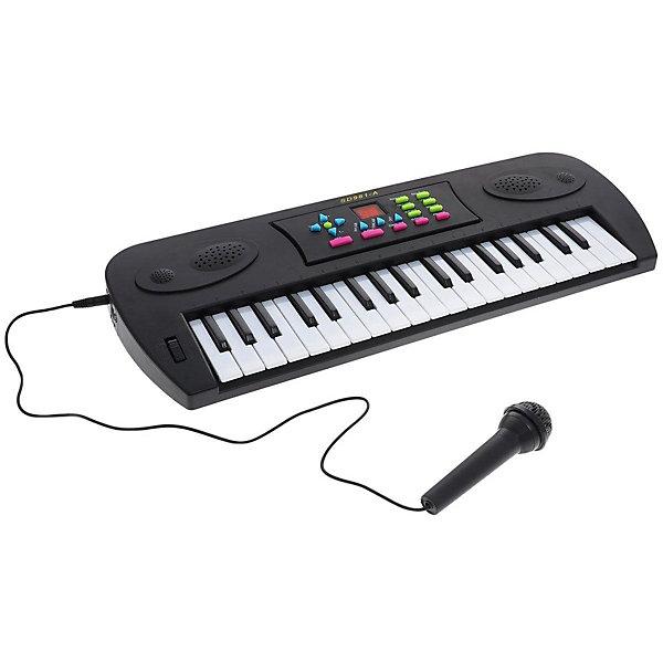 ABtoys Синтезатор ABtoys DoReMi 37 клавиш, чёрный детский синтезатор