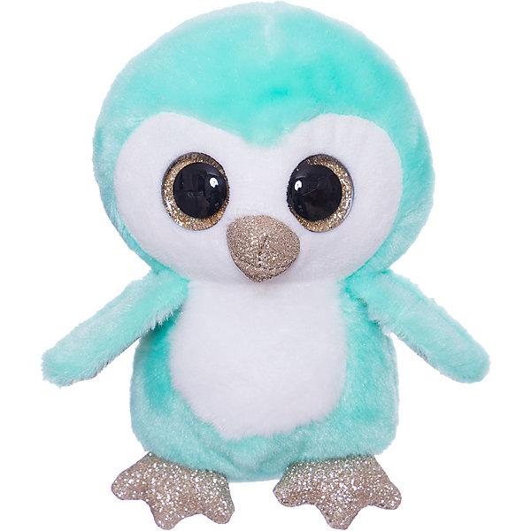 ABtoys Мягкая игрушка ABtoys Пингвин 15 см, зелёный lumo stars мягкая игрушка lumo stars волк woody 15 см серо зелёный