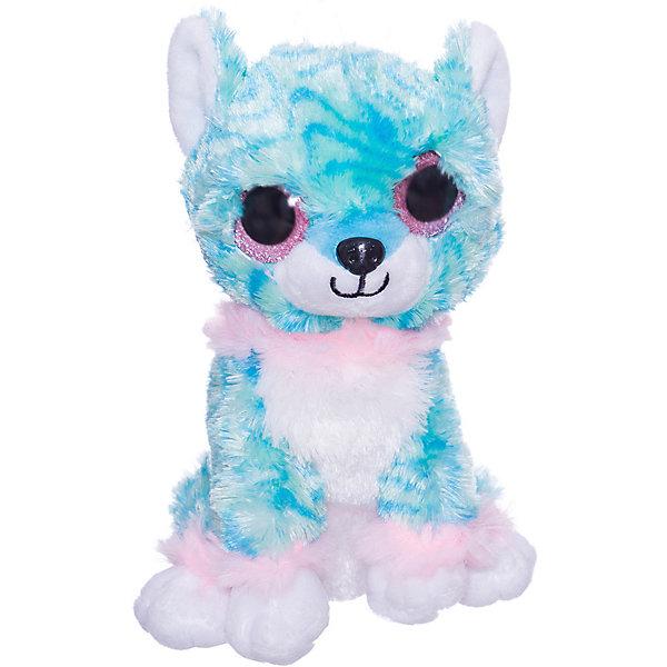 ABtoys Мягкая игрушка Собачка 15 см, голубая