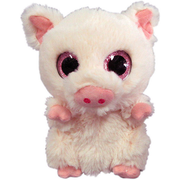Купить Мягкая игрушка ABtoys Свинка 15 см, светло-розовая, Китай, розовый, Женский