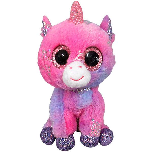 ABtoys Мягкая игрушка ABtoys Единорог 15 см, светло- мягкая игрушка ty beanie boo s единорог fantasia 15 см