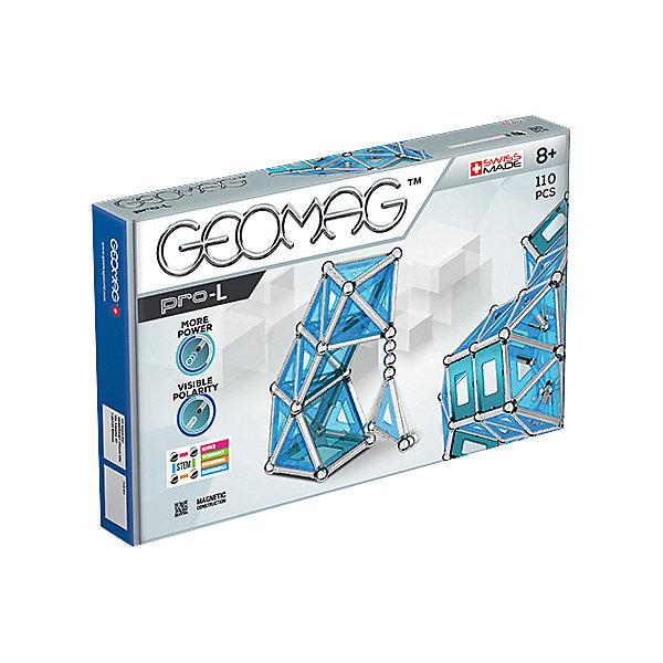 Geomag Конструктор магнитный Geomag Pro-L, 110 деталей zoob подвижный конструктор на 35 деталей zoob 11035