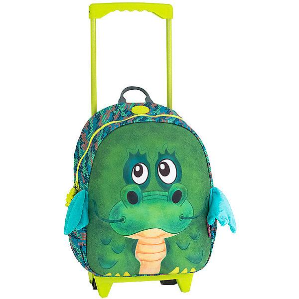 Okiedog Чемодан на колесиках Okiedog Wild Pack Дракончик, чемоданы okiedog wild pack чемодан тигренок