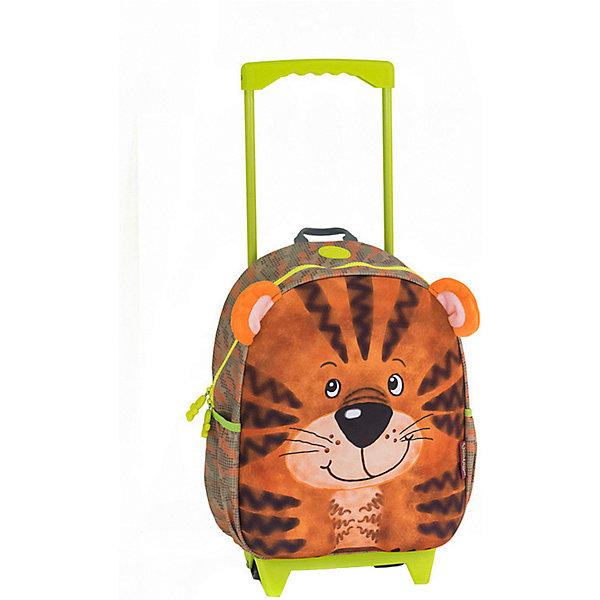 Okiedog Чемодан на колесиках Okiedog Wild Pack Тигренок, чемоданы okiedog wild pack чемодан тигренок