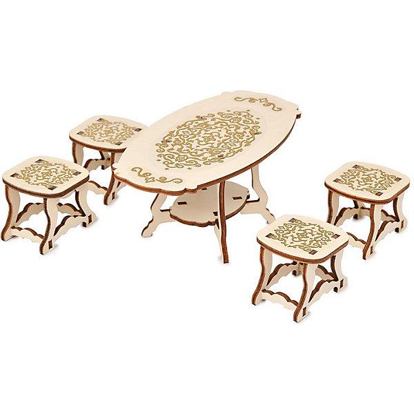 Фото - ЯиГрушка Набор мебели Одним прекрасным утром «Столовая комната» коллекция «Барокко», 5 предметов яигрушка набор мебели одним прекрасным утром два стула коллекция барокко