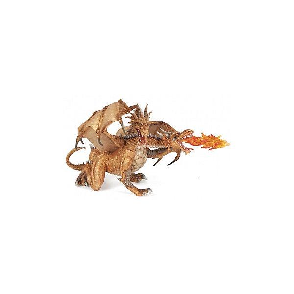 papo Фигурка PaPo Двухголовый дракон, золотой игровые фигурки papo игровая реалистичная фигурка конь рыцаря быка