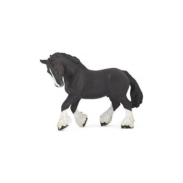 РаРо Фигурка PaPo Шайрская черная лошадь игровые фигурки papo фигурка лошадь с символом флер де лис