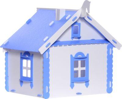 Кукольный домик Krasatoys  Деревенский домик Маруся  с мебелью, бело-голубой, артикул:10321429 - Куклы и аксессуары