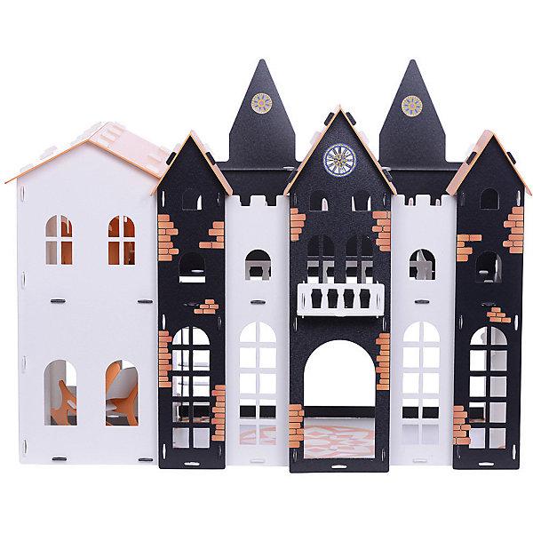 Купить Кукольный домик R&C Замок Джульетты с мебелью, бело-чёрно-оранжевый, Россия, сиреневый, Женский