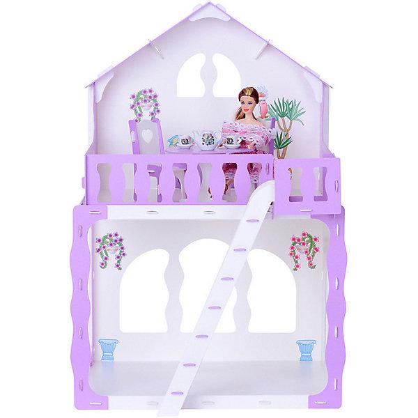Купить Кукольный домик R&C Марина с мебелью, бело-сиреневый, Россия, Женский