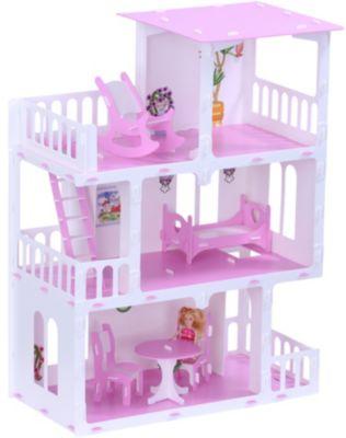 Кукольный домик R&C  Маргарита  с мебелью, бело-розовый, артикул:10321461 - Куклы и аксессуары