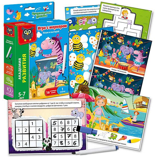 Vladi Toys Обучающий набор Vladi Toys Пиши и вытирай Зебра: Продвинутый уровень vladi toys кд умнички пиши и вытирай корова