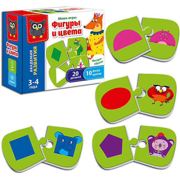 Vladi Toys Настольная игра Vladi Toys Мини-игра Формы и цвета egmont toys магнитная игра пиратский корабль egmont toys