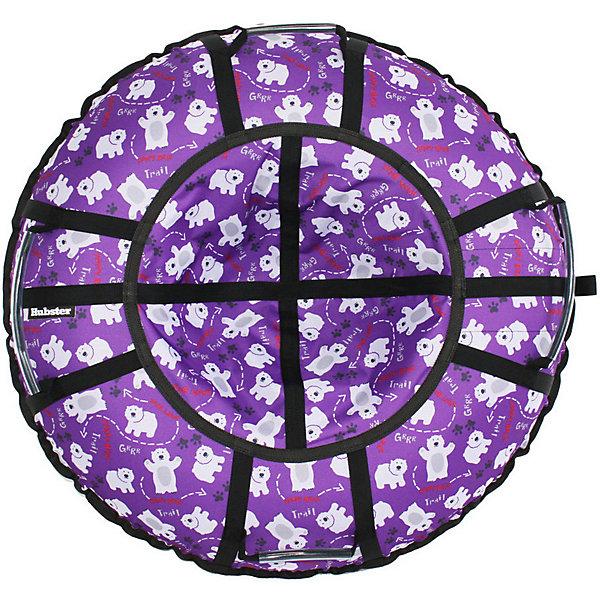 Hubster Тюбинг Hubster Люкс Pro Мишки фиолетовые, 90 см тюбинг надувной с защитным чехлом 90 см bradex sf 0097