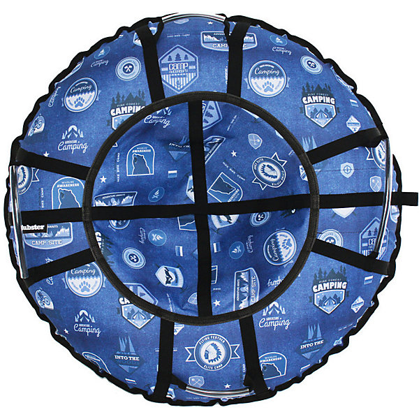 Купить Тюбинг Hubster Люкс Pro Кемпинг синий, 120 см, Россия, голубой, Унисекс