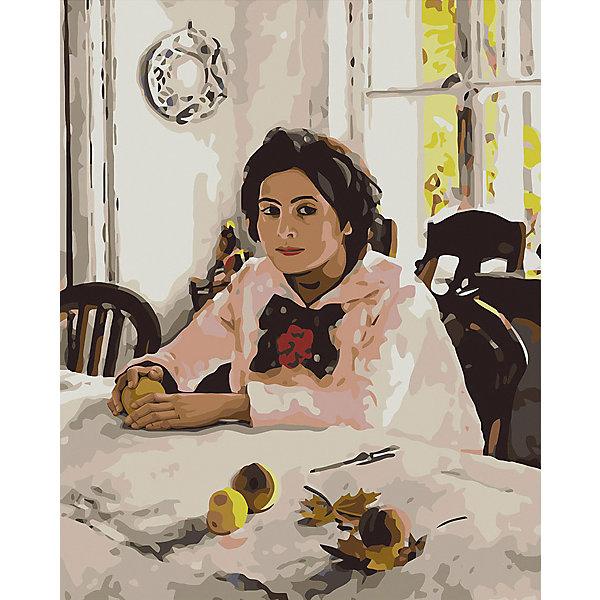 Фрея Набор для раскрашивания по номерам Девочка с персиками