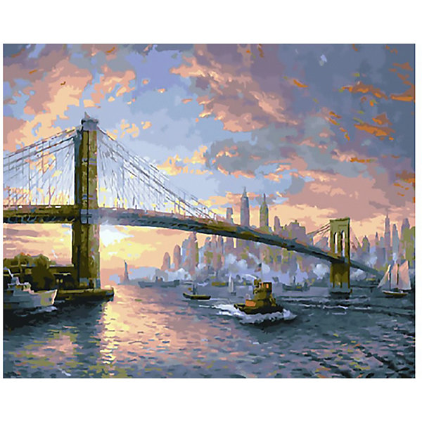 Molly Картина по номерам Molly Рассвет над Нью-Йорком, 40х50 см
