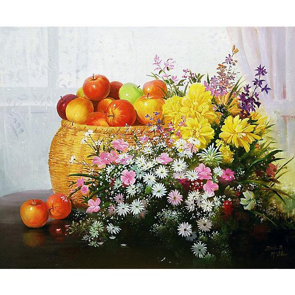 Molly Картина по номерам Сунг Ли Натюрморт с яблоками, 40х50 см