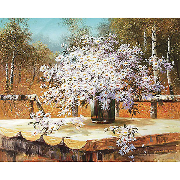 Molly Картина по номерам Сунг Ли Букет полевых ромашек, 40х50 см