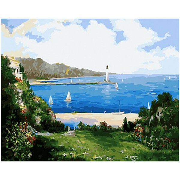 Molly Картина по номерам Сунг Ли Маяк в заливе, 40х50 см
