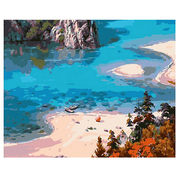 Molly Картина по номерам Сунг Ли Голубое, 40х50 см
