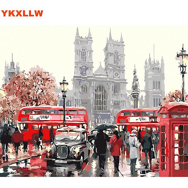 Molly Картина по номерам Лондонский транспорт, 40х50 см