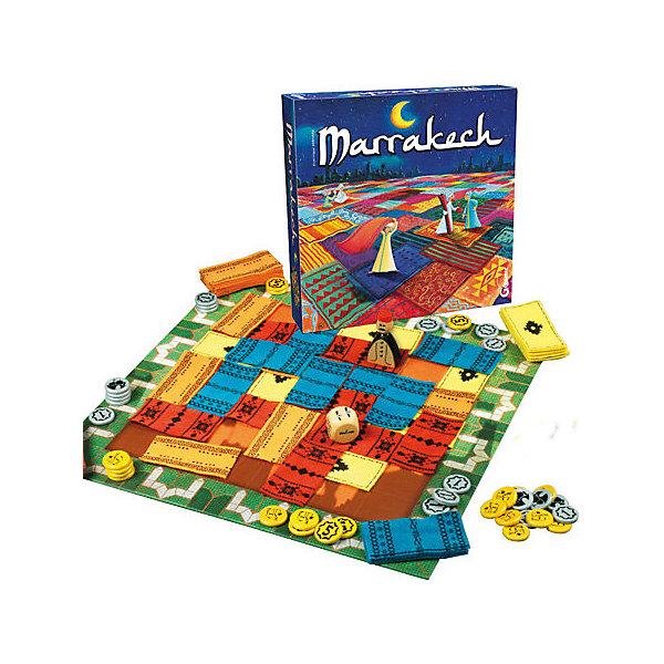 Настольная игра Gigamic МарракешИгры с кубиками<br>Характеристики:<br><br>• материал: дерево, текстиль, картон<br>• количество игроков: 2-4<br>• время игры: 10-20 минут<br>• в наборе: рыночная площадь, 57 матерчатых ковров, 40 монет, Ассам – хозяин рынка, правила игры<br>• вес упаковки: 730 г<br>• размер упаковки: 6х28х28 см<br>• страна бренда: Франция<br><br>Игрокам предстоит побороться за титул лучшего продавца ковров на арабском рынке. Цель игры – разбогатеть и застелить своим товаром всю торговую площадь. Бросок кубика определяет, где разместится ковер, и куда пойдет хозяин рынка. Но если Ассам ступит на чужую территорию, игроку придется раскошелиться.