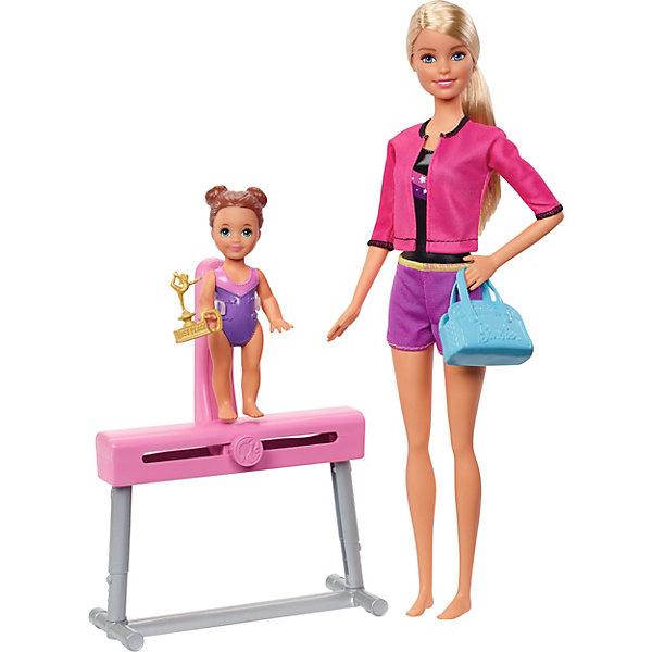 Mattel Игровой набор Barbie Спортивная карьера Гимнастика, блондинка