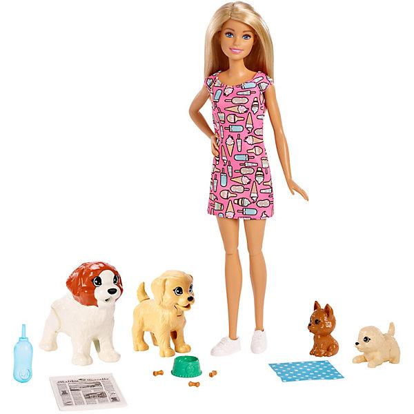 Купить Игровой набор с куклой Barbie, Барби и щенки, Mattel, Китай, Женский