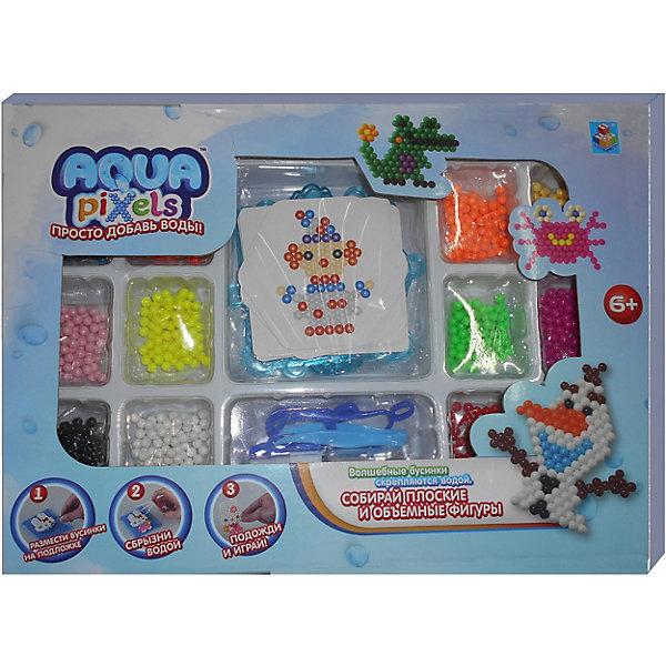 Lucky Набор для творчества 1Toy Aqua pixels Мега набор, 960 пикселей lucky набор для творчества 1toy aqua pixels набор принцессы 600 пикселей